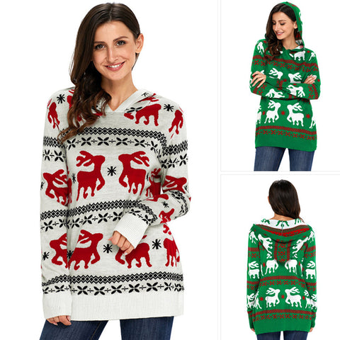 Women's Christmas Long Sleeve Knit Sweater