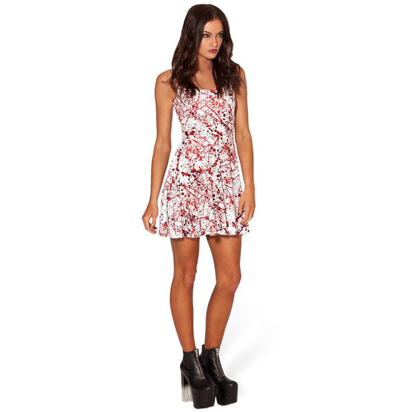 Halloween Masquerade Party Blood Print Dress