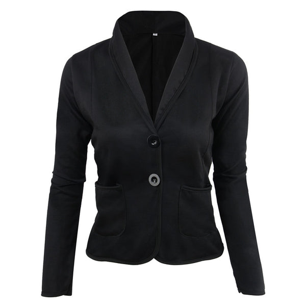 Fashion Two Buttons Design Slim Fit Casual Blazers