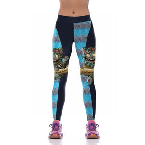 Halloween Bloody Cat Print Yoga Pants Leggings