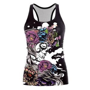 Girl Flower Digital Printed Vest Halloween Costumes