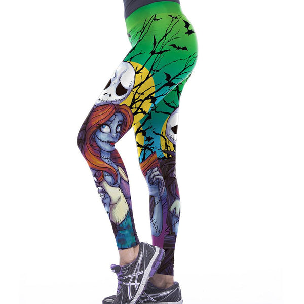 Halloween Zombie Print Yoga Pants Leggings