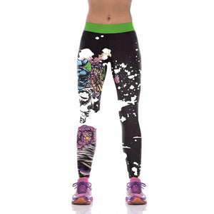 Halloween Print Yoga Pants Leggings