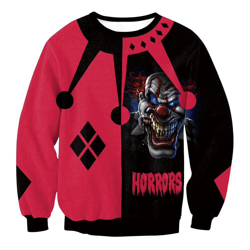 Halloween Clown Cosplay Sweatshirt  Women's Halloween Costumes