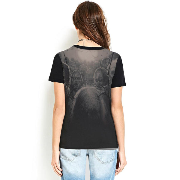 Halloween Terror Print Women's T-shirt