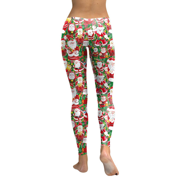 Santa Claus Print Christmas Leggings