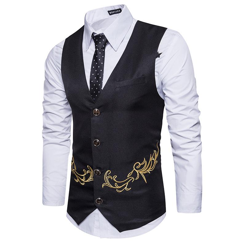 Men's Fashion Embroidered Vest