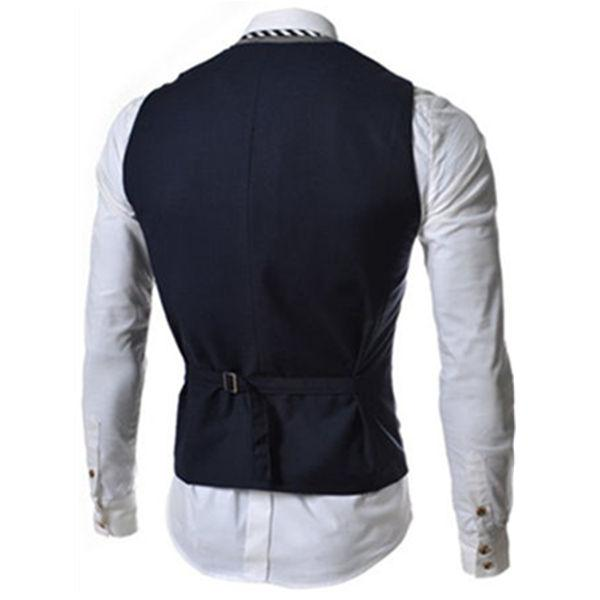 Faux Twinset Color Block Single Breasted Waistcoat