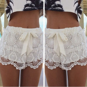 Mid Waisted Lace Chiffon Short
