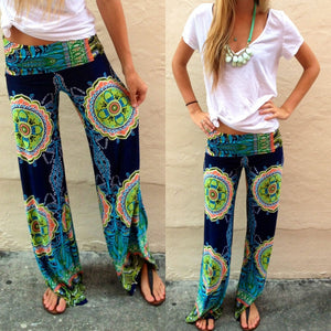 Casual Wide Leg Floral Print Long Pants