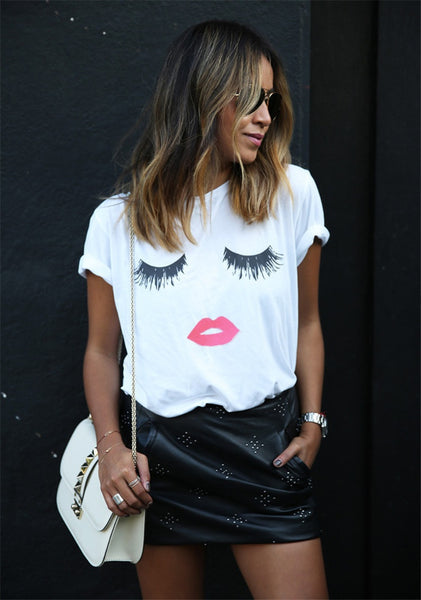 Casual Simple Printed T-shirt