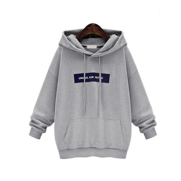 Fashion Sports Loose Long Pullover Hoodie