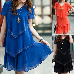 Plus Size Summer Chiffon Dress (S-5XL)