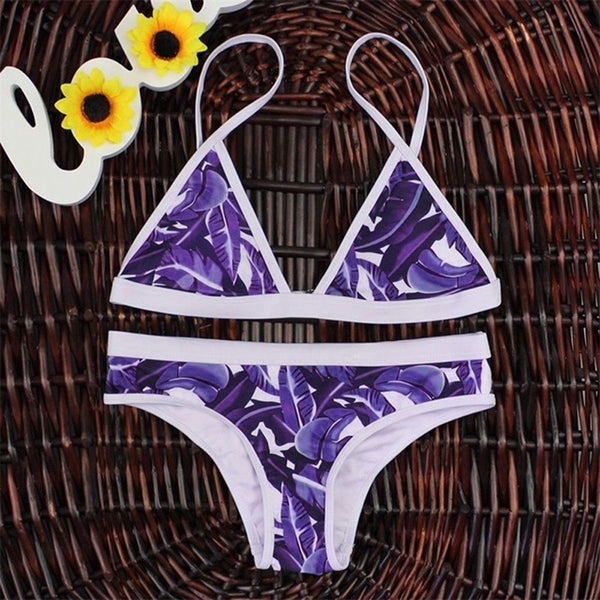 Push-up Padded Bra Bandage Bikini Set