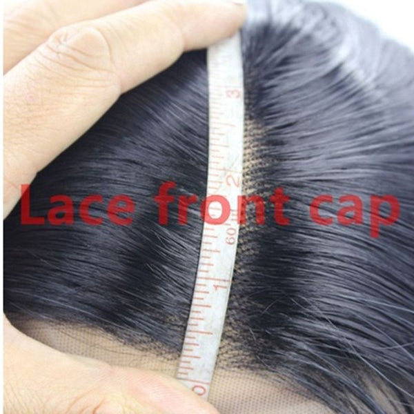 Natural Black Silky Long Straight Lace Front Wigs