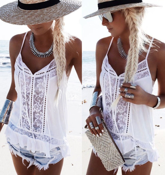 Fashion Loose Lace Vest tank tops