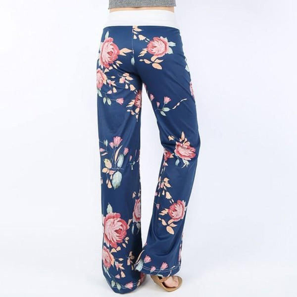 Elastic High Waist Wide Leg Palazzo Pants
