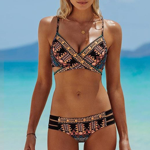 Cross-strait National Wind Body Bikini Swimsuit