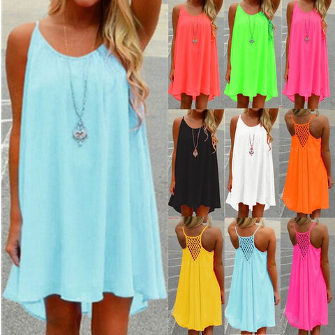 Sexy Women's Summer Casual Sleeveless Beach Dress