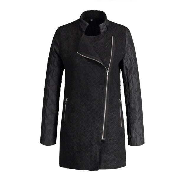 Asymmetric Zip Up Coat
