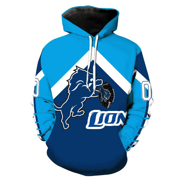 [SUPER BOWL] Detroit Lions Football Team Print Hoodie