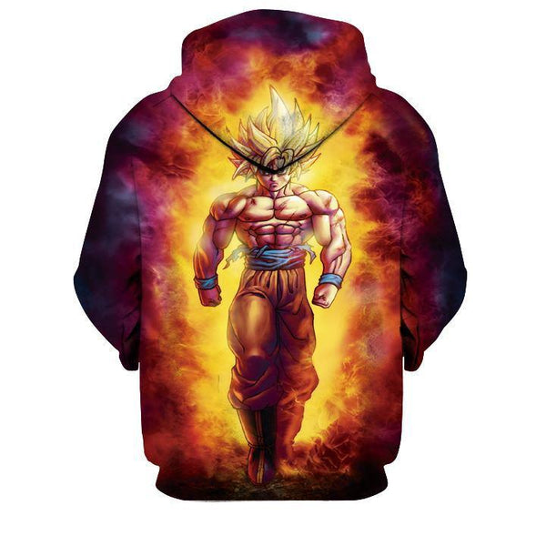[[DRAGON BALL]] 3D Printed Long Sleeve Pullover Hoodie