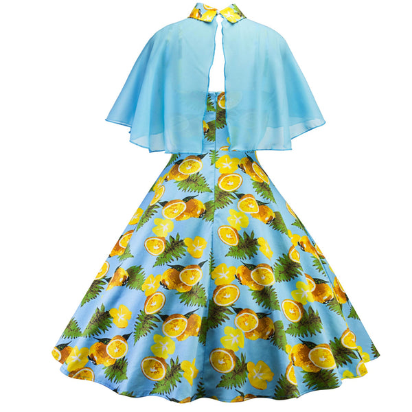 Women's 1950s Cloak Two-Piece Cocktail Dress