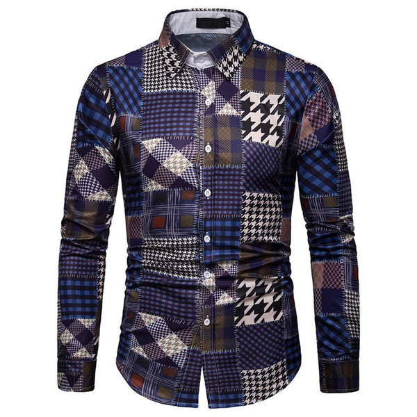 Men's Plaid Casual Long Sleeve Shirt