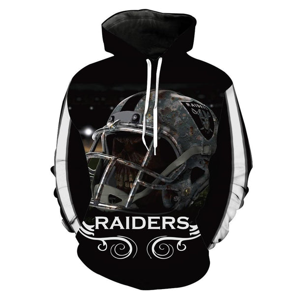 [SUPER BOWL] Oakland Raiders Football Team Print Hoodie