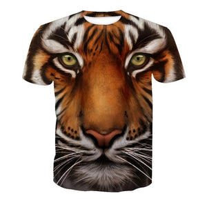 3D Tiger Print Short Sleeve T-shirt