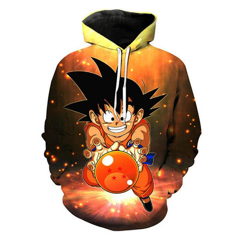 [DRAGON BALL] 3D Printed Long Sleeve Pullover Hoodie