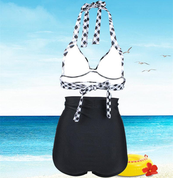 High Waist Bikini High Waist Strap Swimsuit Set
