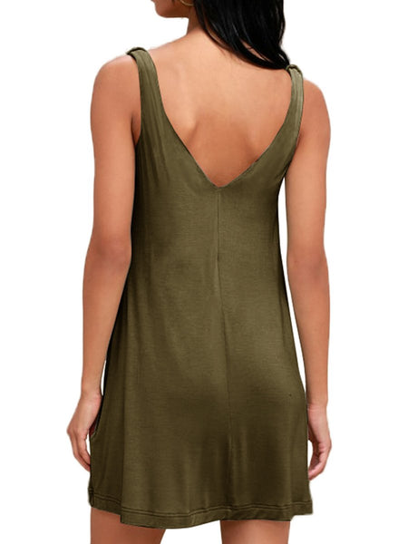 Summer Casual T Shirt Tank Dresses