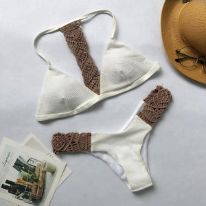 Knitting Strappy Bikini Set