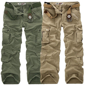 Zipper Fly Multi-Pocket Drawstring Pants