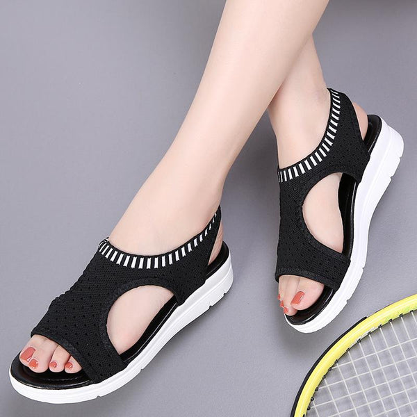 Summer New Platform Breathable Sandal  Shoes Ladies Walking Shoes Beach