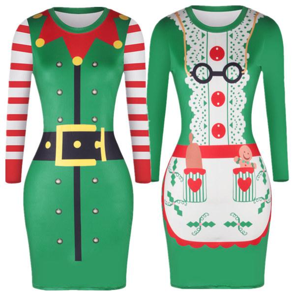 Christmas Print Fashion Dress