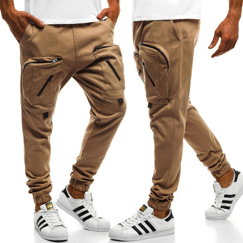 Zippered Casual Sweatpants Pants