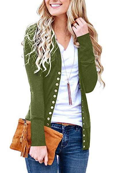 Women's Basic Button-down Knit Coat