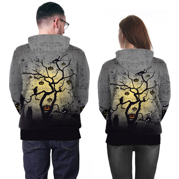 Halloween Ghost Festival Elements Digital Print Funny Hoodie