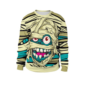 Mummy Print Sweatshirt Stage Tour Halloween Costume