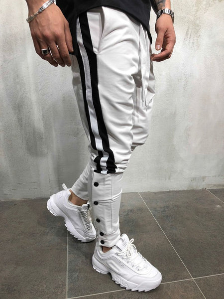 Side Striped Contrast Sports Pants