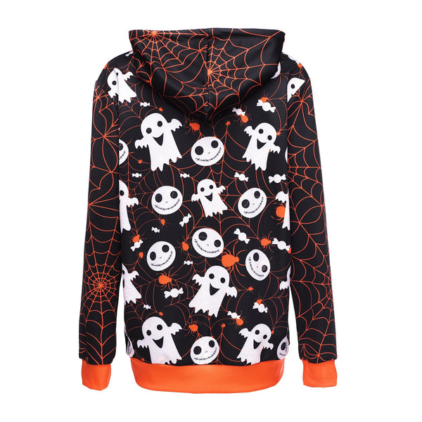 Halloween Trick or Treat Pumpkin Head Sweater Hoodie Halloween Costumes