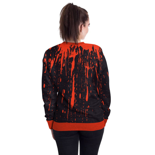Halloween Print Round Neck Loose Sweatshirt