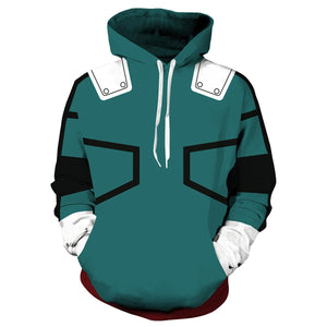 [My Hero Academia] Printed Long Sleeve Pullover Hoodie