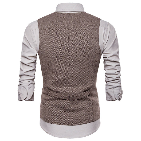 Fashion Men's Men's Single Breasted Vest Waistcoat