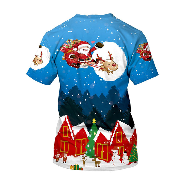 Printed Christmas Loose T-shirt
