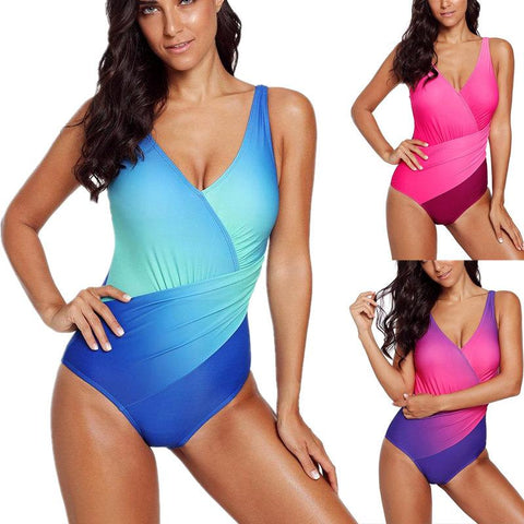 Blue/Rosy Ombre Teddy One Piece Swimsuit