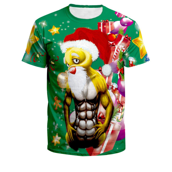 Christmas Print Loose T-Shirt