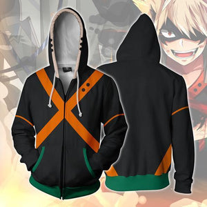 [My Hero Academia] 3D Printed Long Sleeve Zipper Hoodie